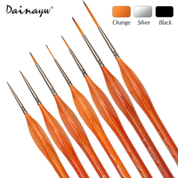 7Pcs Premium Quality Miniature Hook Line Pen Fine Watercolor Paint Brush Set For Drawing Gouache Oil