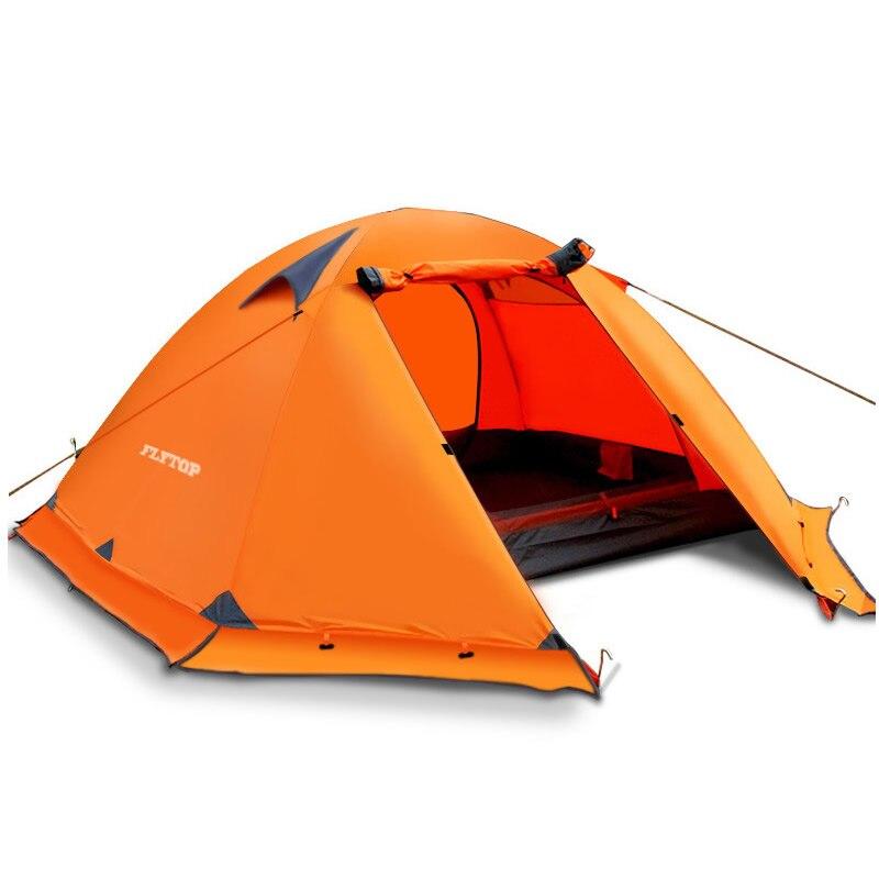Hiver En Plein Air Camping Tente 2-3 Personnes Double Couche Coupe-Vent Imperméable Professionnel Camp Touristique 4-Saison Tente Ultra-Léger