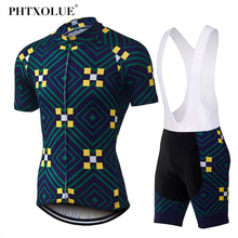 Phtxolue Pro Summer Cycling Jersey set MTB Bike Clothing Bicycle Clothes Wear Maillot Ropa Ciclismo Set