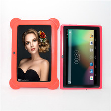 A33-8G 7 inch Q88 pro A33-1 Android 4.4.2 Quad Core Dual Cameras Bluetooth WIFI 512MB/8GB 1024*600 with case Kids Tablet PC