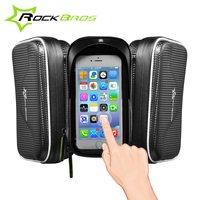 ROCKBROS Bike Accessories Bicycle Waterproof Bag Frame Front Head Top Tube Bike Bag Double IPouch Cycling