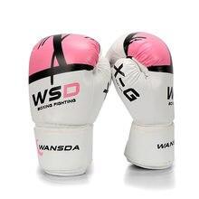 db7dc6645 Luvas Mulheres Homens MMA Muay Thai Kick Boxing Luta Luva luva de box Pro  luvas de
