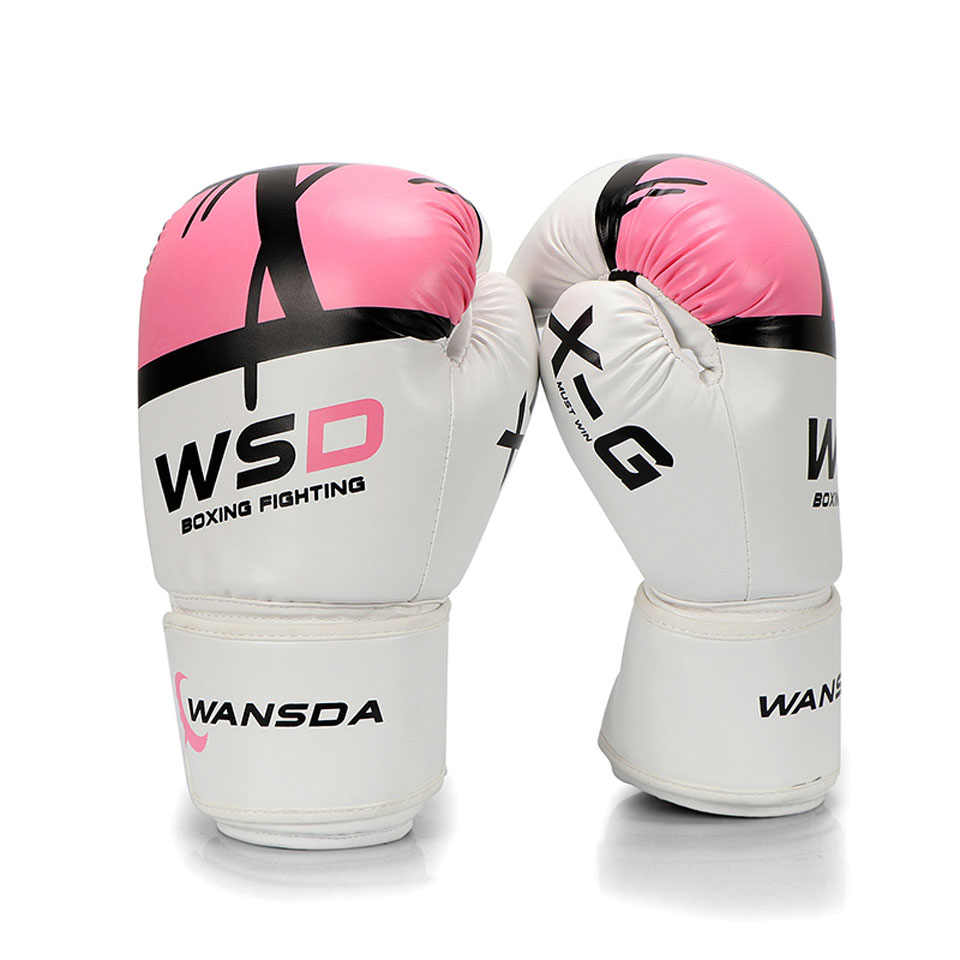 8c99b0b2f Kick Boxing Gloves Women Men MMA Muay Thai Fight Glove luva de box Pro  boxing gloves