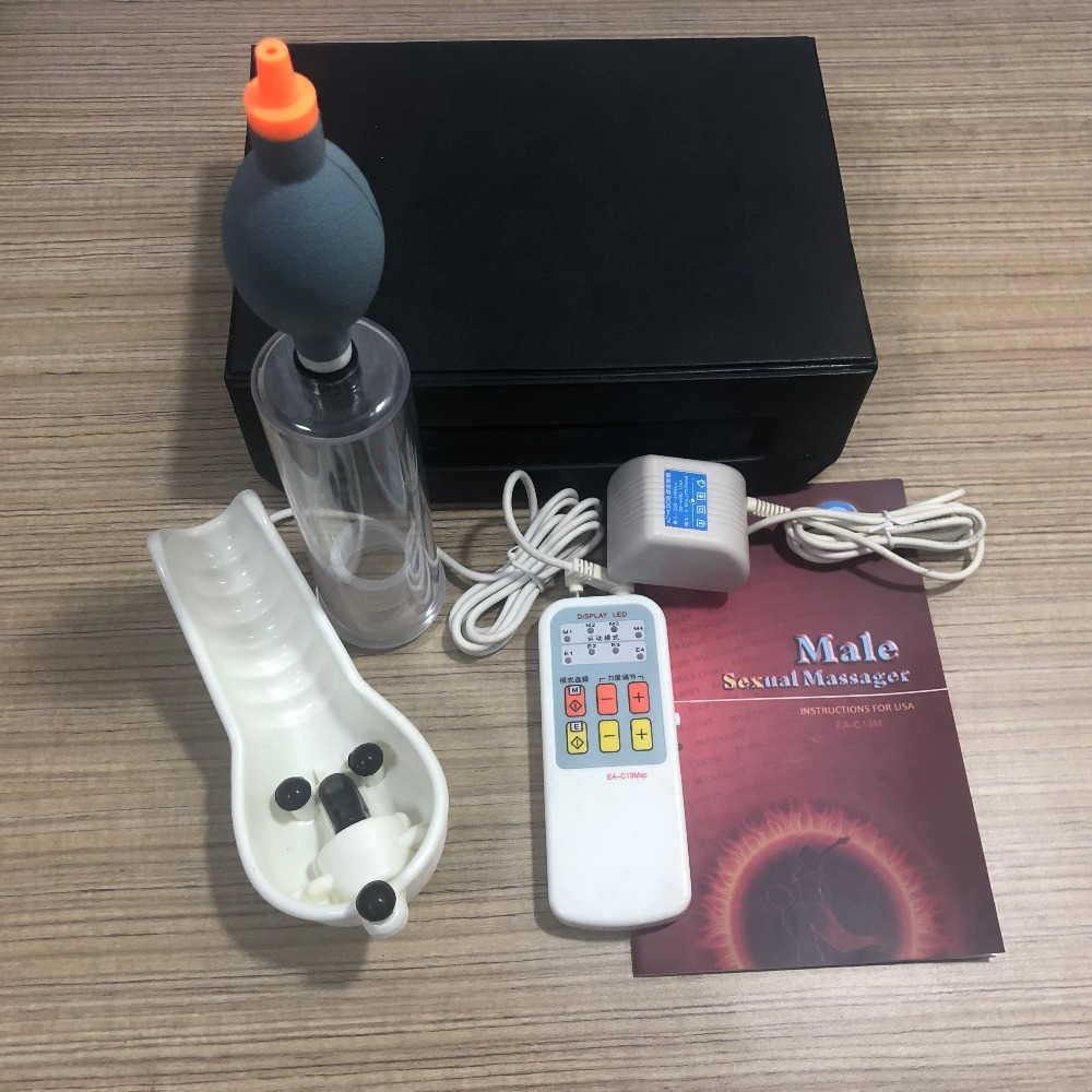 Electro magnetic Prostate Therapy Pulse treatment massage device male masturbation Penis Enlarger Enlargement Vacuum Cock Pump