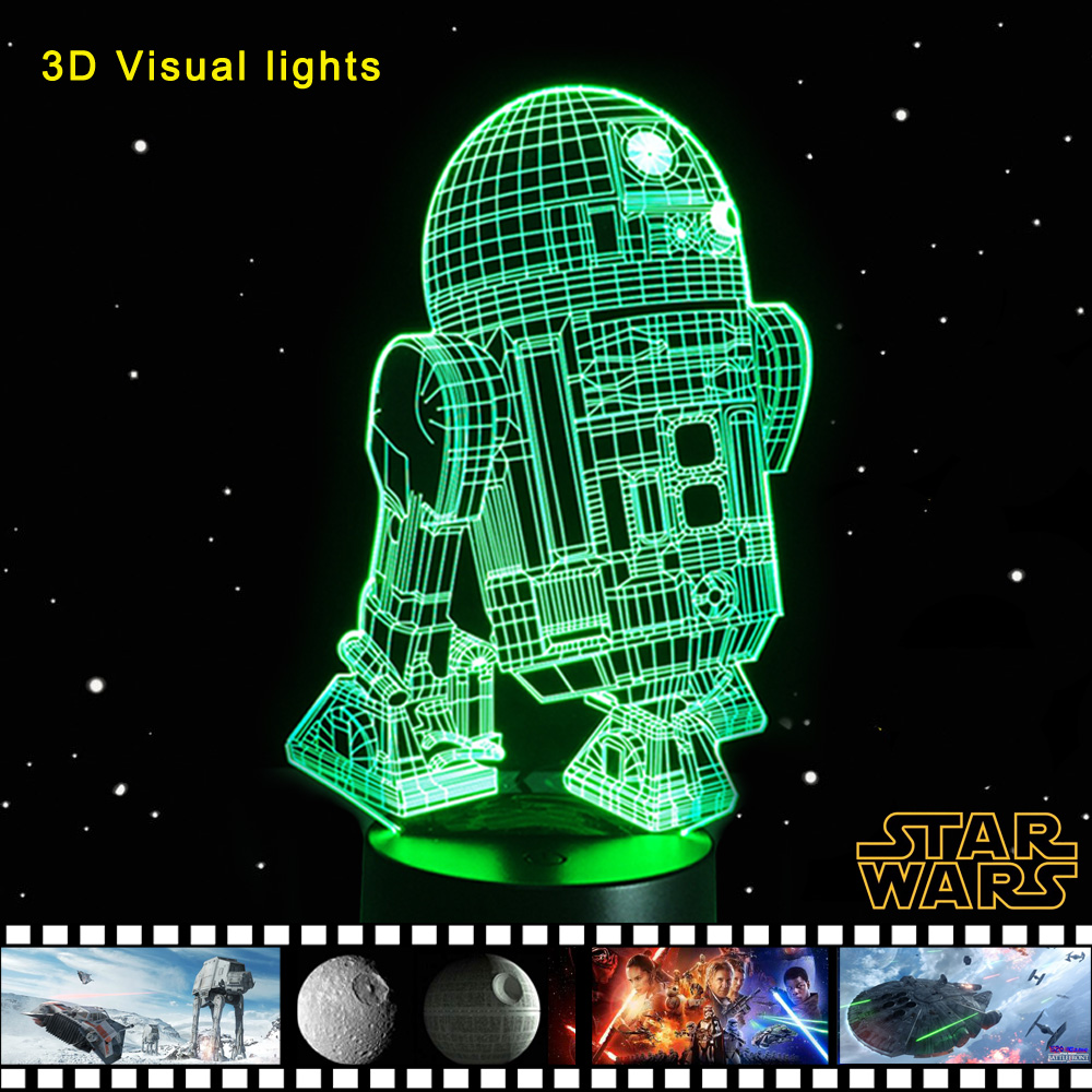 Ikea Hochstuhl Antilop Test ~ Novelty 3D Night Light LED Bedside Lamp Table Desk Lampe Cool Star