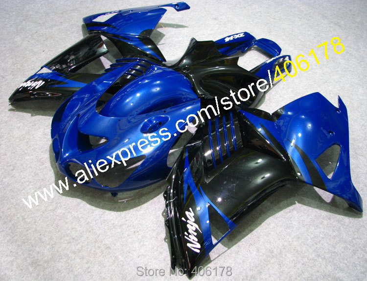 Hot Sales,Cheap price 06-11 zx-14r abs Fairings Set For Kawasaki Ninja ZX14R 2006-2011 Blue black Fairings (Injection molding)