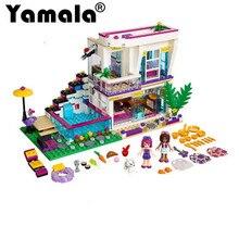 [Yamala] Новый 619 шт. Друзья серии Ливи с поп-звезда дом строительные блоки Andrea миникуколок Игрушка совместима с legoingly