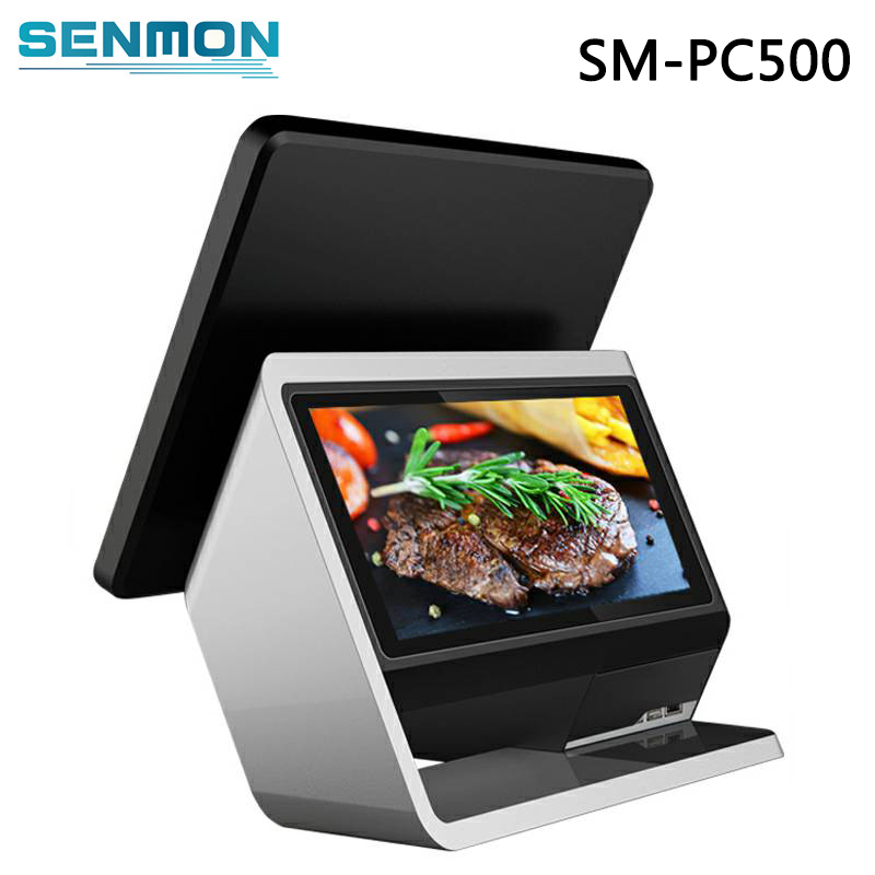 15 Inch Dual Screen Touch Screen POS System Terminal Android POS Machine with Cashcow Software For Retaurant & Supermarket free shipping high quality hd underwater world 3d flooring painting wallpaper kitchen office wear floor mural