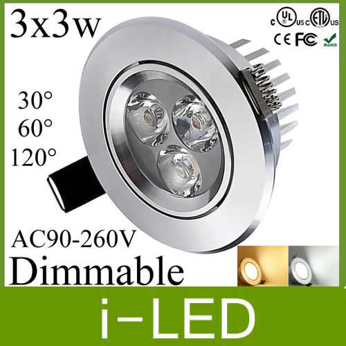 30 off 3x3w led ceiling light lamp dimmable led recessed lights led 30 off 3x3w led ceiling light lamp dimmable led recessed lights led spot light silver shell 110 240v 120angle warm cold white in downlights from lights mozeypictures Image collections