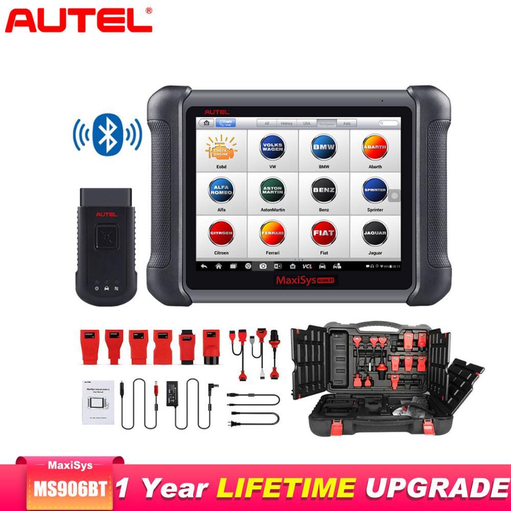 AUTEL MaxiSys MS906BT OBD2 Scanner Car Diagnostic Auto Tool Key Programmer Support Remote Control Tech Scanner Automotivo