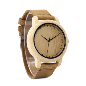 Image 3 - ボボ鳥 WA15RU カジュアルアンティークラウンド竹木製腕時計で男性のためのストラップ女性はトップブランドの高級 oem