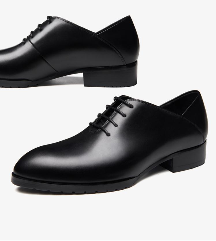 Oxford Partido Pequeño Marca Nuevos Estrecha Ocio 36 Moda Hombres Casual Tamaño Black Cuero Del Clásico Zapatos Diseño La Genuino De Punta TBq65
