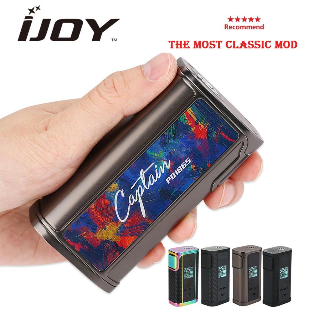 100% Original IJOY Captain PD1865 Box MOD 225W Max output & 0.96 inch OLED No Battery Ecig vape mod VS shogun univ/ drag 2
