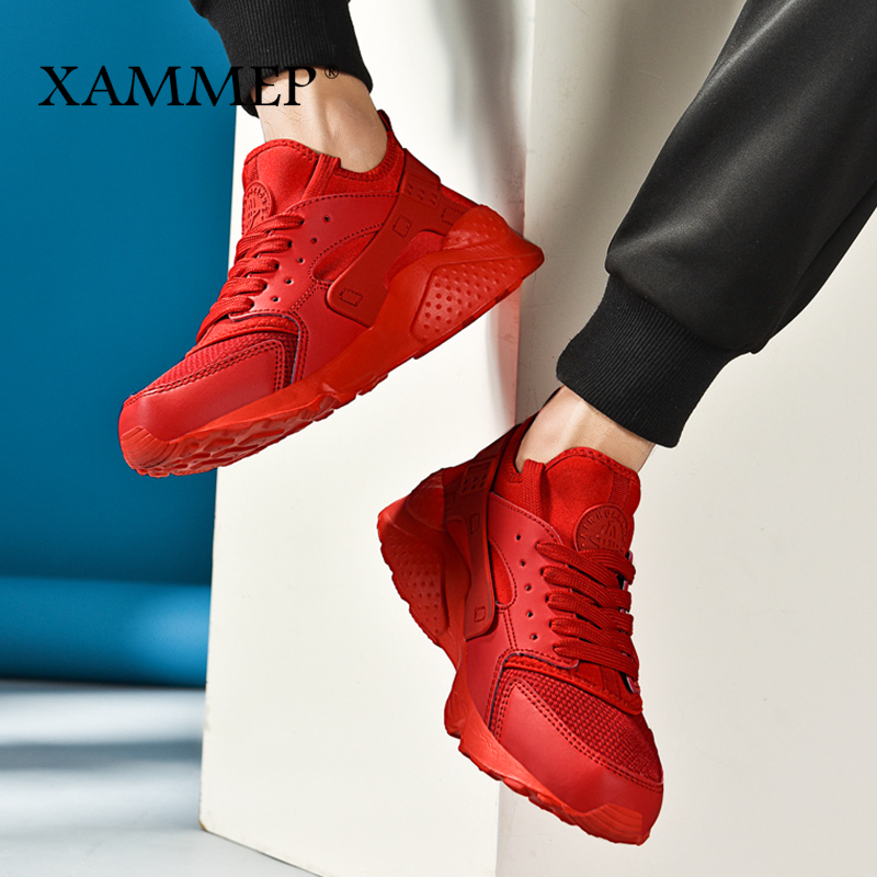 Respirant Marque Glissement Chaussures Casual Black white green Grande Printemps Hommes Sneakers Appartements Taille Xammep Mocassins Sur Automne red Maille Plus OC05q