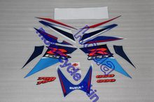 Freeshipping 17pieces sticker decals For GSXR R-GSX 600 GSXR750 2006-2007 K6 K7 blue-color