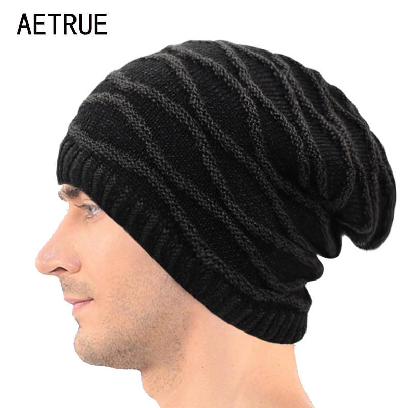 Beanies Men Winter Hats Women Knitted Hat Bonnet Caps Baggy Brand Women's Winter Hats For Men Warm Wool Skullies Beanie New 2017 brand skullies winter hats for men bonnet beanies knitted winter hat caps beanie warm baggy cap gorros touca hat 2016 kc010