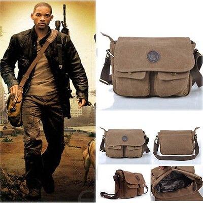 Men's Vintage Casual Canvas Shoulder Bags Messenger Man Satchel Boy School Book Bag Rucksack 5