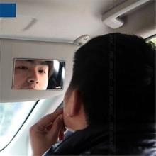 Нержавеющаясталь косметическое зеркало автомобиля солнцезащитный козырек зеркало для макияжа Практичный автомобиль поставляет декоративные