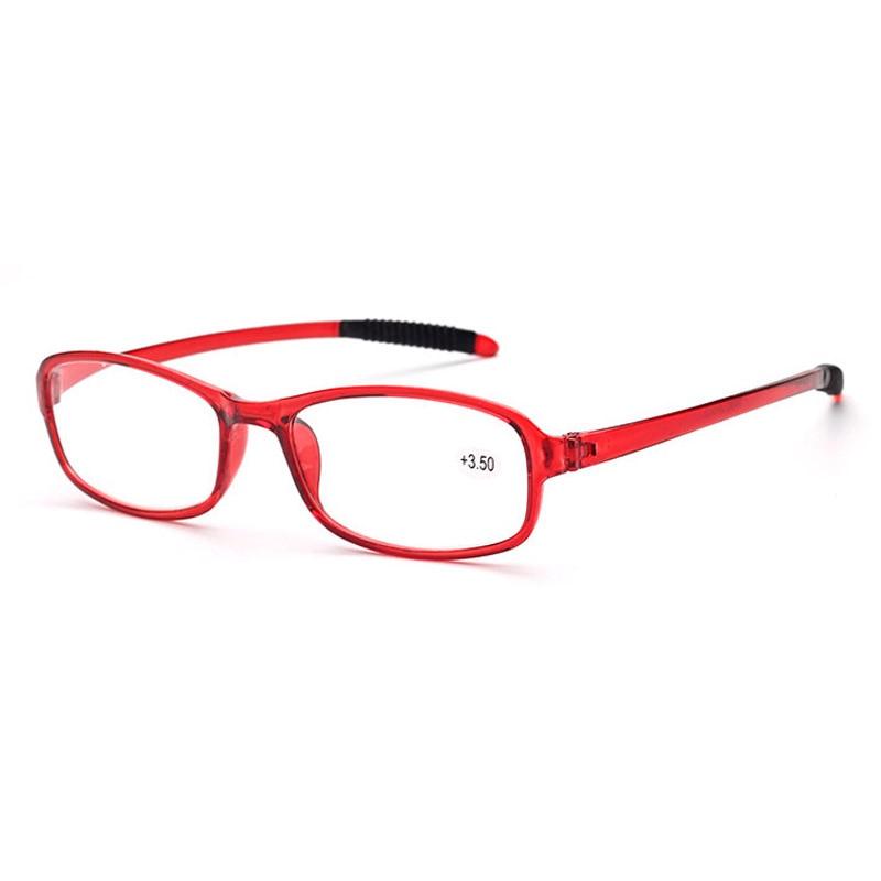 bf9bff04e 2017 بصري واضح طويل النظر نظارات ضوء تقليد tr90 مضاد للانزلاق المطاط قدم  القراءة نظارات الرجال النساء المسنين نظارات