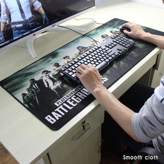 Various sizes of playerunknown's battlegrounds map mouse pad precision lock edge gaming mouse pad anti-slip notebook mat