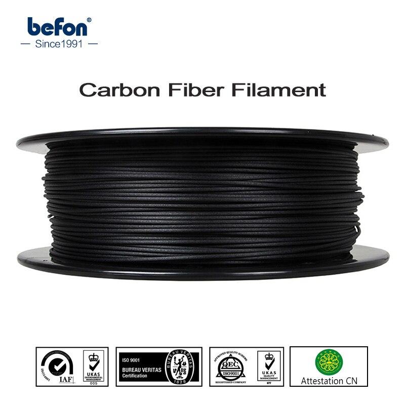Forte PLA Filament De Fiber De Carbone 3D Imprimante Filament 1.75mm 0.5 kg 1 kg 3D Impression Matériel pour MakerBot RepRap Ultimaker Imprimante