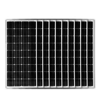 Solar Panel 100w 12v 10 Pcs Zonnepaneel 1000 Watt 1 KW Solar Battery Charger Caravan Autocaravana Motorhome RV Boat Home House