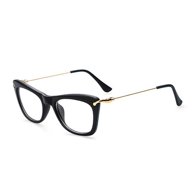 41cec265effe5 2018 pernas de metal grandes óculos de Armação Armações de Óculos Elegantes  Das Mulheres Óculos de