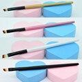 De gama alta profesional mayor sola ceja cepillo pinceles de maquillaje embalaje DEL OPP/cepillo de cejas en ángulo de maquillaje cepillo
