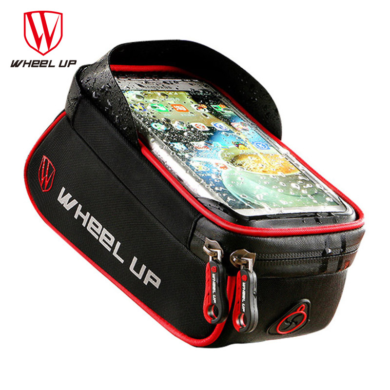 WHEEL UP Rainproof Front Zipper Bike Bag MTB Mountain Cycle Touch Screen Phone Bags Waterproof GPS Cycling Pouch Panniers 2017WHEEL UP Rainproof Front Zipper Bike Bag MTB Mountain Cycle Touch Screen Phone Bags Waterproof GPS Cycling Pouch Panniers 2017