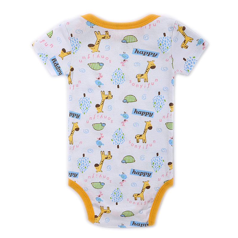 Newborn Baby Bodysuit Mother nest 2017 New Style Short Sleeve Print Little Ship Body Rope Bebe Boys Girls Clothes  (6)