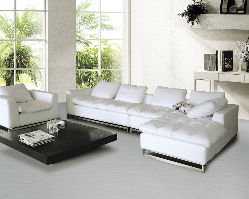 High quality living room sofa in promotion genuine leather sofa ...