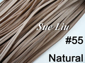 10pcs 3mmx1.5mm Natural Flat Faux Suede Velvet Leather Cord -1M/pcs NCS27-55