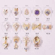 New 5pcs/lot 3D flash Zircon Nail art Decoration luxury zircon bow/tassel nails Accessories top-level crystal Manicure Charms