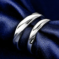 100% Real 925 Sterling Silver Lover Engagement Rings / Valentine's Day Gift Fine Jewelry Classic Couple Fashion Wedding Rings