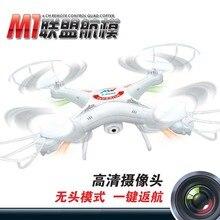 Vente chaude RC Hélicoptère M1 UFO De Explorateurs 2.4G 4CH 6 Axes Rc Drone Avec Caméra Hd Quadcopter VS L6039 JJRC H11D comme enfants jouet
