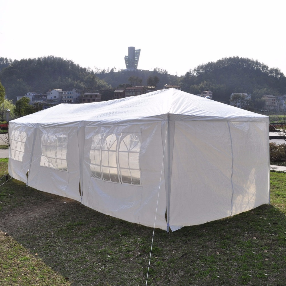10'x30'Canopy Party Outdoor Wedding Tent Heavy duty Gazebo Pavilion Cater Events AP2013WH - 4