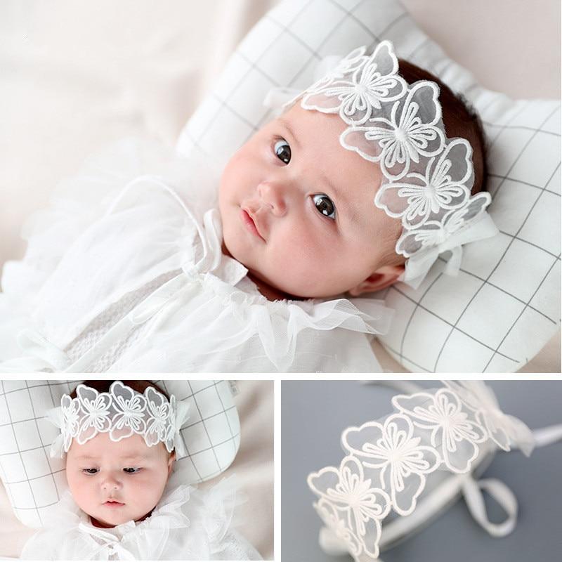 Handmade Lace Butterfly Headbands Hair Band For Newborn Baby Children Girls Hair Accessories Headwraps