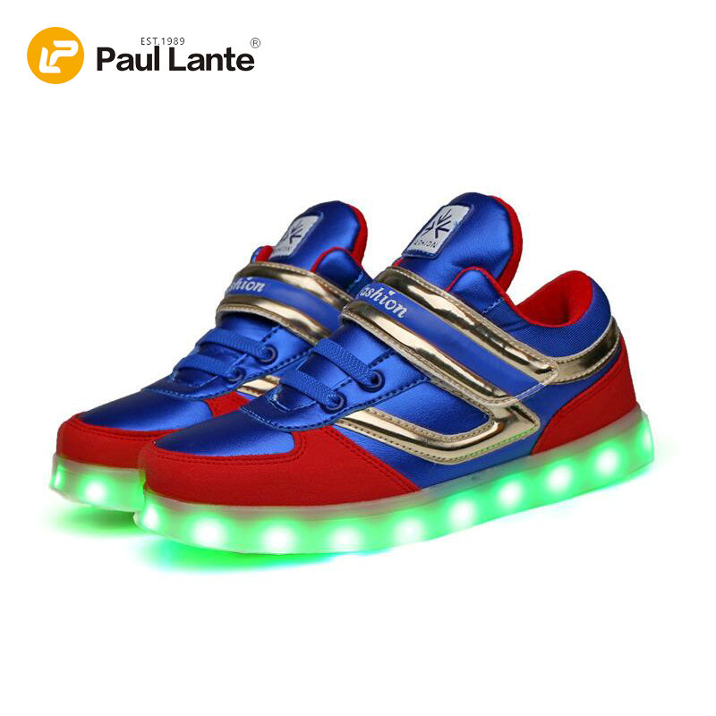LED Boys Kids Sneakers Lights up LED Shoes Children Roller Shoes Lighted Up Shoes USB Charging Casual Quality Children Shoes children roller sneaker with one wheel led lighted flashing roller skates kids boy girl shoes zapatillas con ruedas
