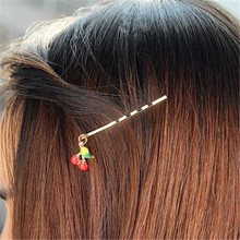 Cute Baby Rabbit Hairpins Novelty Cartoon Animal Fox Hair Clips Girls Children Cat Barrettes Strawberry Hair Jewelry