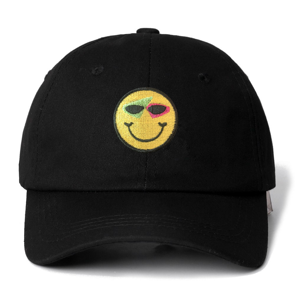 Roy Purdy Smiley Snapback   Cap   Cotton   Baseball     Cap   For Men Women Adjustable Hip Hop Dad Hat Bone Garros