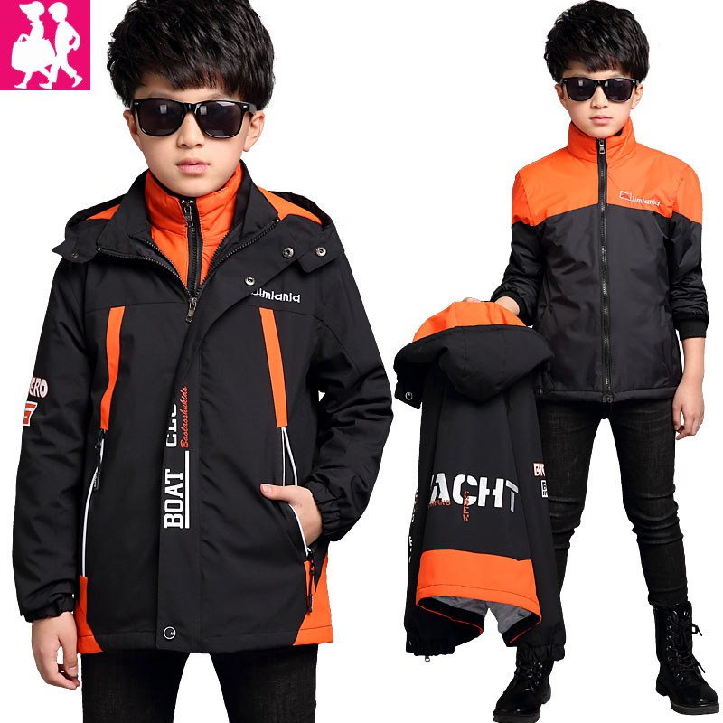 Boys Jackets Children Clothing Children Coat New 2018 Sport Clothes Waterproof Windproof Paul warm Boys Outerwear Winter spring