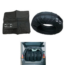 4Pcs 13″-19″ Black Nylon Car SUV Pickup Spare Wheel Tyre Tire Protection Storage Bag Carry Tote Cover Bags