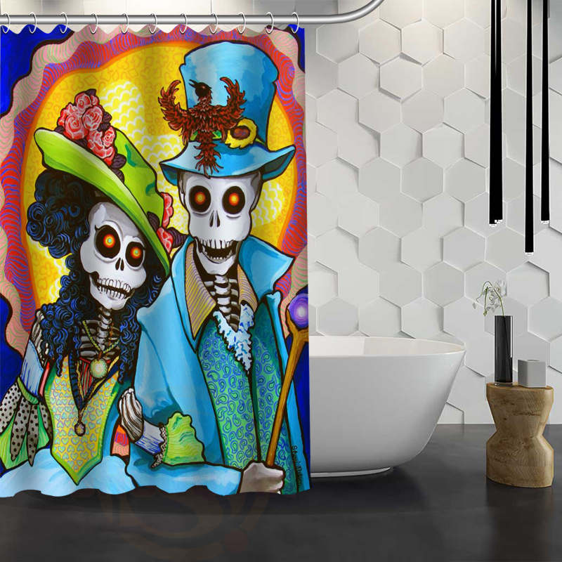 Vixm Hot Sale Custom Day Of Dead Shower Curtain Waterproof Fabric Bath For Bathroom In Curtains From Home Garden On Aliexpress