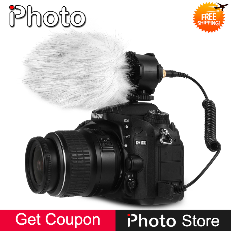 3.5mm X/Y Stereo Condenser Microphone for Canon Nikon Sony Pextax DSLR Camera DV Camcorder Audio Recorder Video Mic Accessories цены онлайн