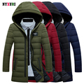 Nyxuri Special Offer Winter Fashion Jacket Men Down Coat 2016 White Duck Thick Parka Hood Stand Collar Plus Size Solid Outwear