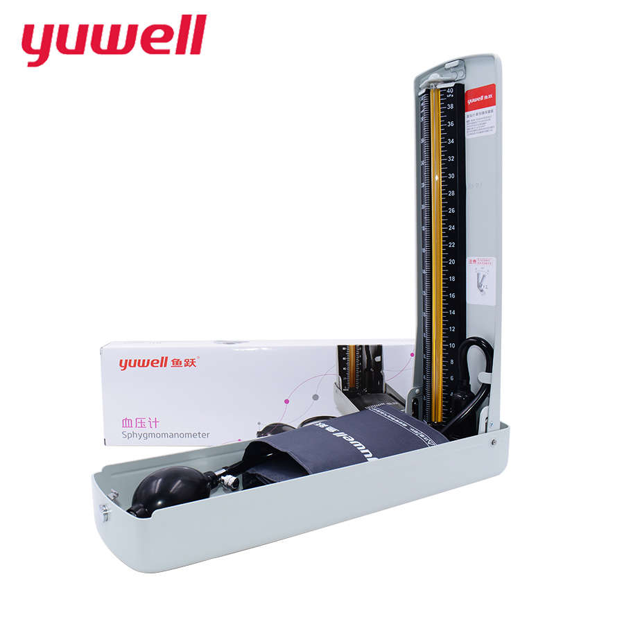yuwell Mercury Sphygmomanometer Arm Medical Equipment blood Pressure Monitor Auscultate Fetal Heart Monitor Fetal Stethoscope double two site stethoscope hear fetal heart copper