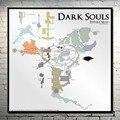 Mapa De Dark Souls 1 2 3 Tecido De Seda Arte cartaz Impressão 13x13 32x32 polegadas Jogo de Imagem para a Decoração Da Parede 030