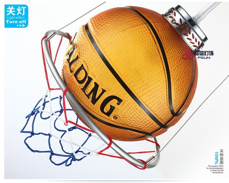 Basket-ball Lampe Pendentif Lumière Enfant Réel Lampes Enfant Chambre Bande Dessinée De La Lampe