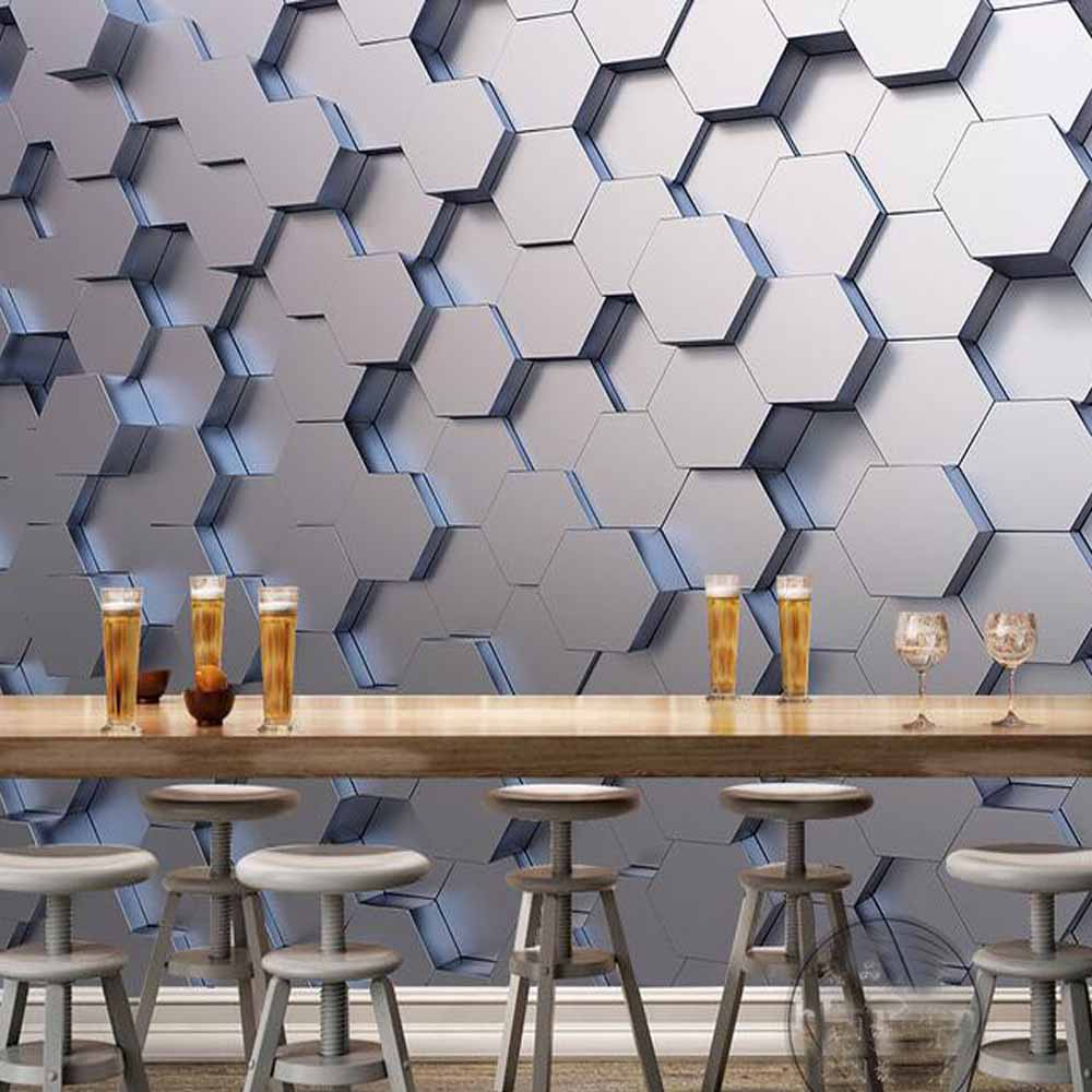 Geom Trica Murais De Parede Foto Papel De Parede Adesivo Para Sala  -> Adesivo Parede Sala Estar