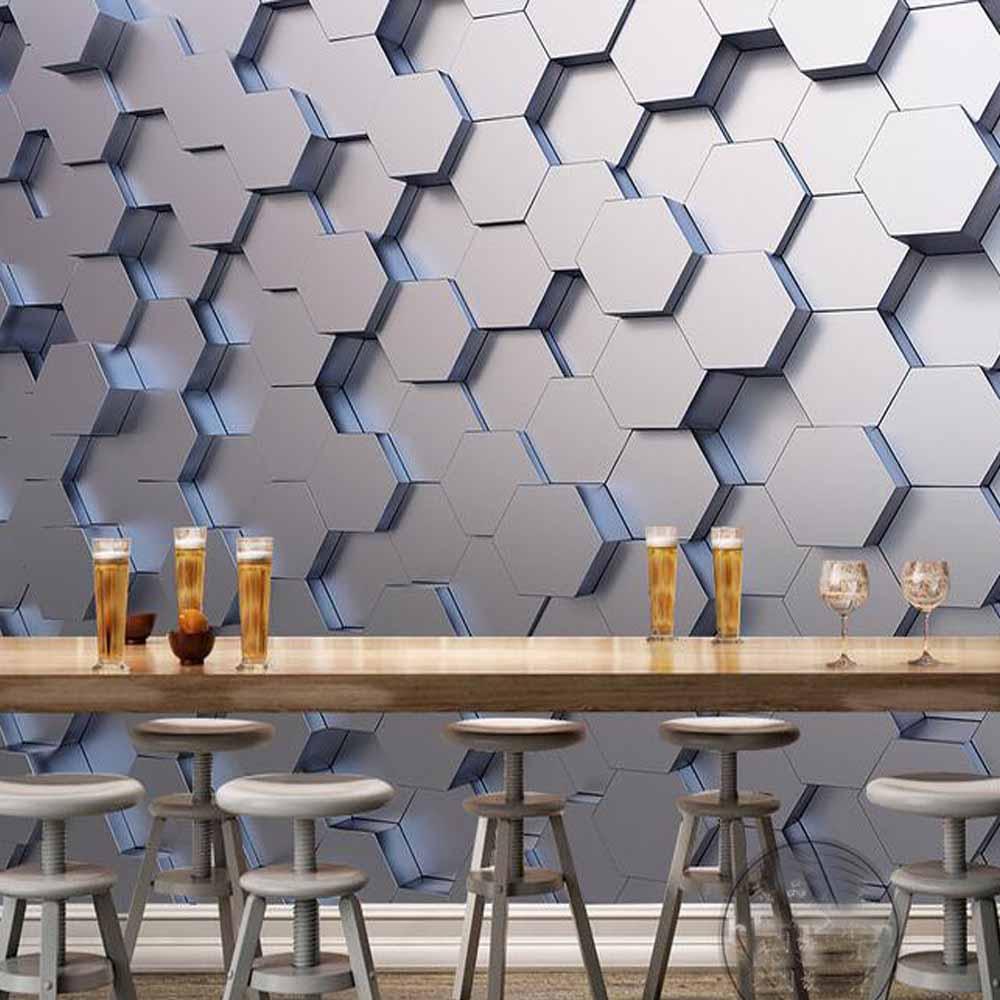 3D Geometric Wall Mural